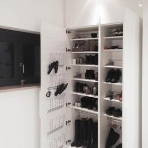 Schuhschrank weiß mit Ordnungssystem