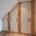 Flurgarderobe unter Dachschräge in sandbeige, Eiche-Applikationen mit Naturkante