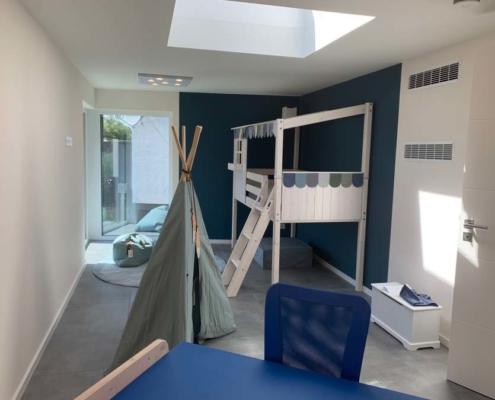 Inneneinrichtung Bootshaus Kinderzimmer mit Hochbett